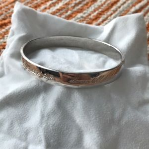 """Kate spade bangle """"this is the year to"""" silver"""